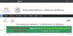 convocatoria unadm 2018-2